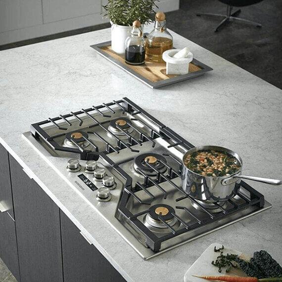 Estufa A Gas Empotrada Monogram Ge Monogram Olins Kitchen